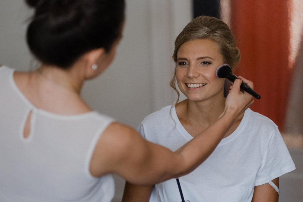 Brautstyling Haare Make Up